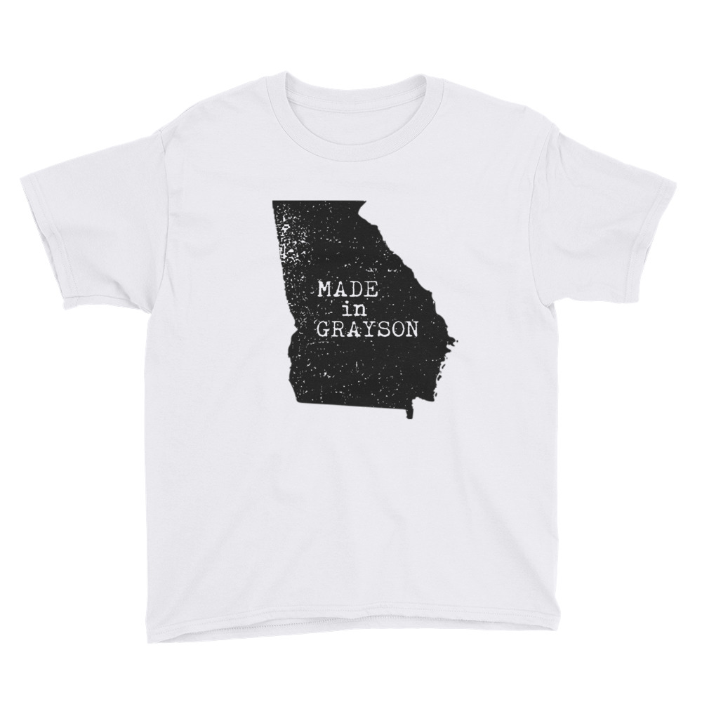 52ad5049 Made In Grayson Youth Short Sleeve T-Shirt - Made In Georgia   GA ...